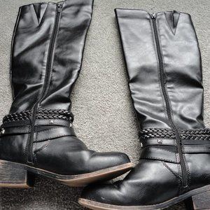 SO Olive Women's Riding Boots Color: Black Size: 8